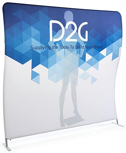 Double Sided 8' Wide Wave Backdrop with Customizable Graphics