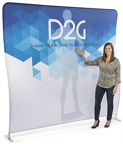 Single Sided 8' Wide Wave Backdrop Features Replacement Graphics