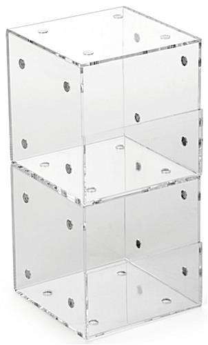 Clear Set of 2 Plastic Display Containers