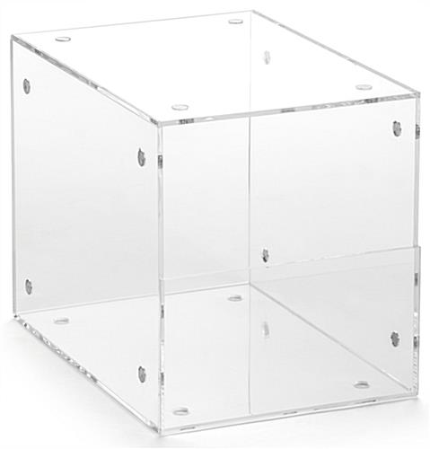 Set of 2 Plastic Display Containers with Modular Design