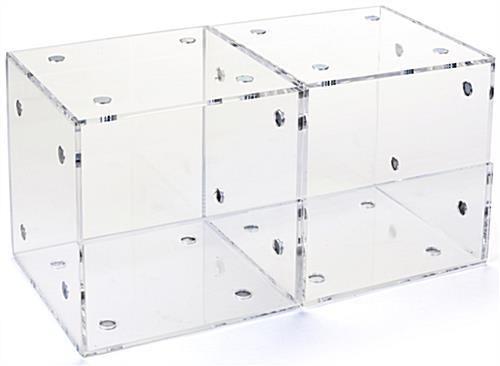 Set of 2 Plastic Display Containers for Retail Stores