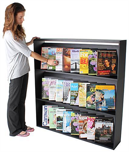 Magazine Shelf: 3-Shelf Magazine Rack