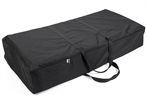Black portable floor tile transport case