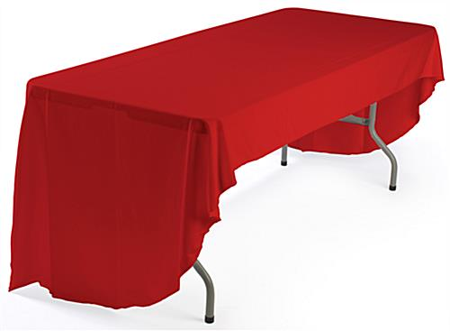 red table covering