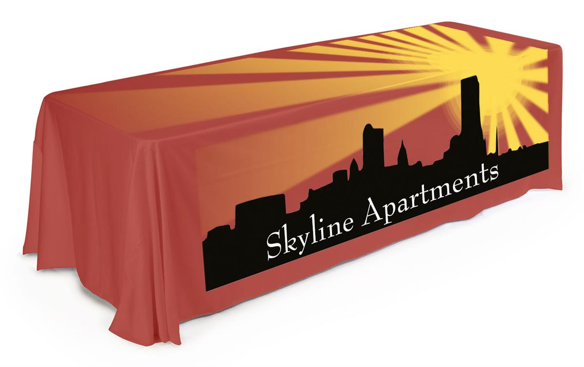 Imprinted Table Cloth Printed Tablecloth Comes With Full-Color Custom Graphics