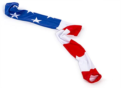 polyester american flag stanchion post wrap