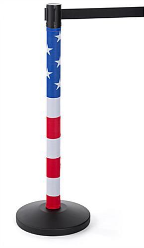 seasonal american flag stanchion post wrap