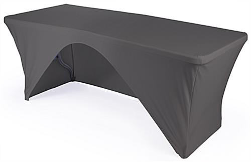 Folding Table with Black Stretch Cover