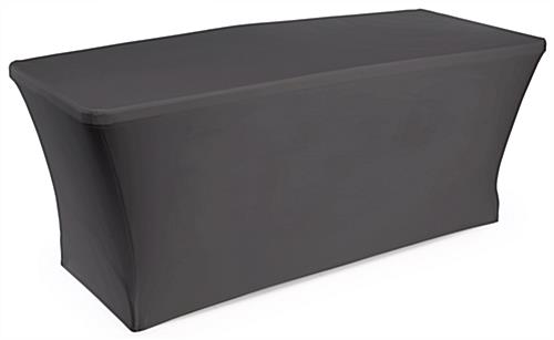 Folding Table With Stretch Cover 6 Black Booth