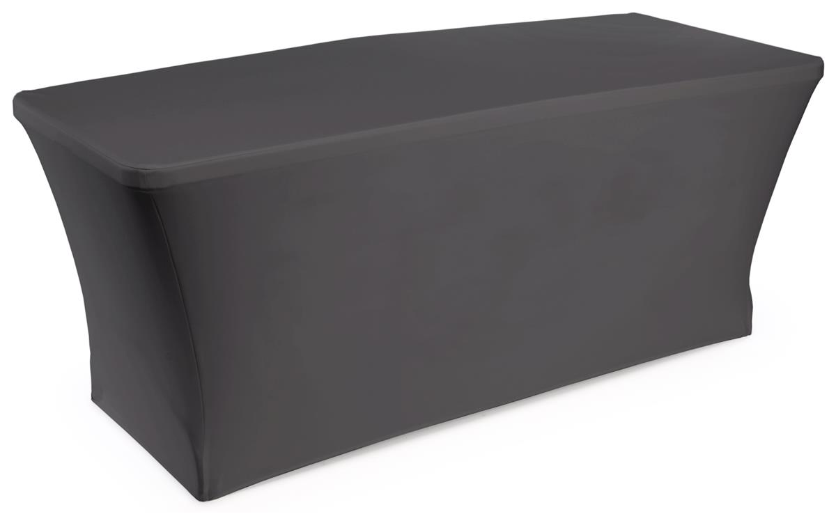 Black Plain Stretch Table Cover