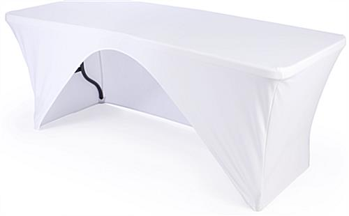 Folding Table with White Stretch Cover