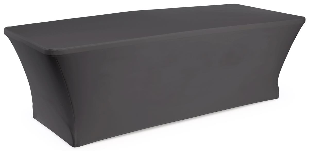Spandex Table Cover For 8 Table Black Stretchy Fabric