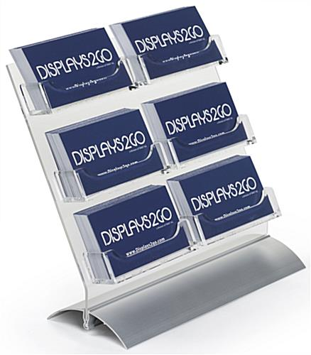 6 Pocket Business Card Holder with Slanted Design
