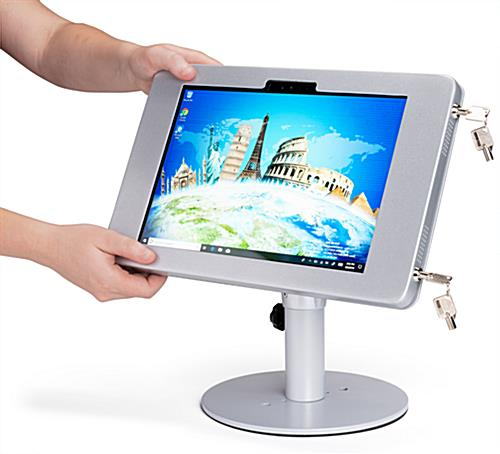 Surface Pro counter kiosk stand with tilting bracket