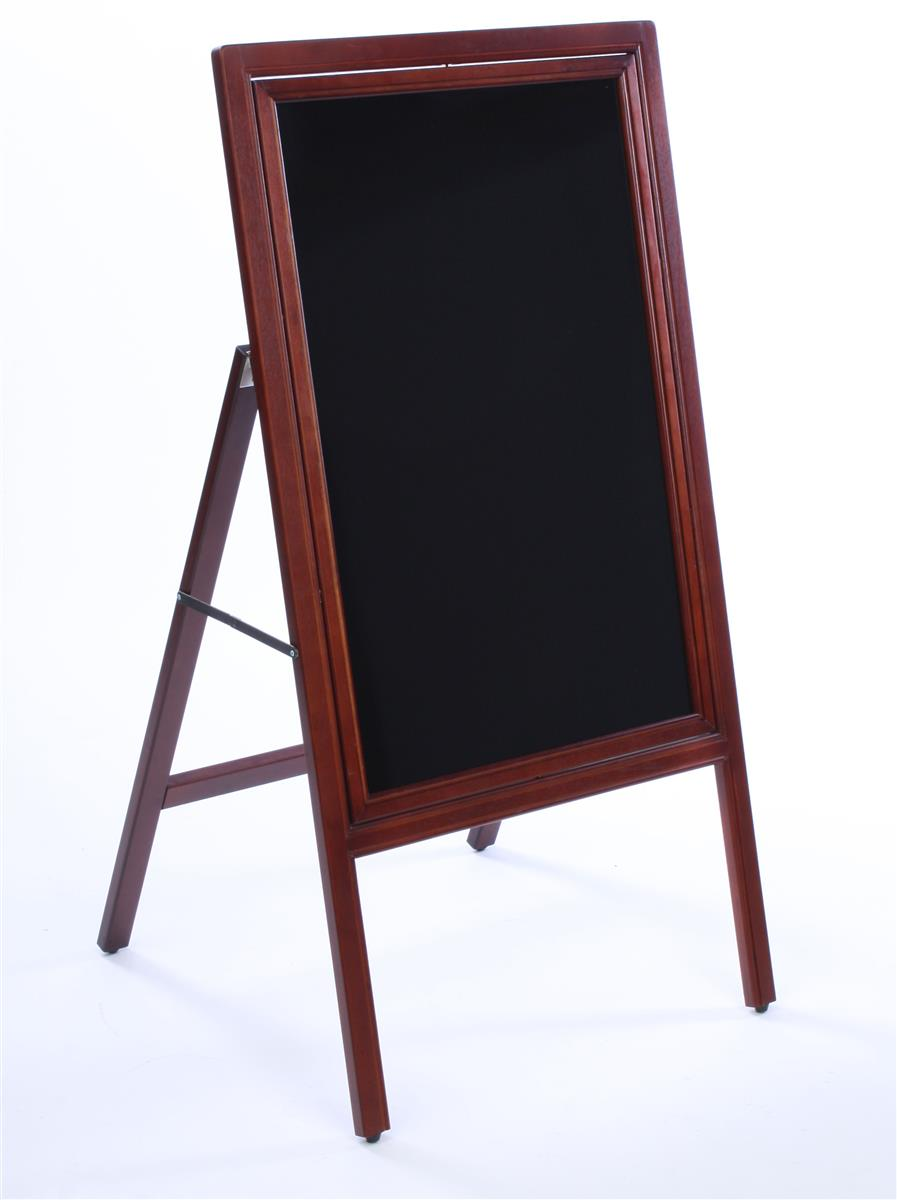 A-Frame Write-On Board | Reversible Black/White Display