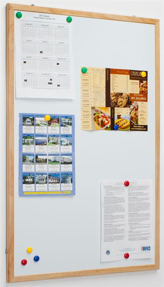 Displays2go 36 x 24 Dry Erase Board, White Magnetic Surfa...