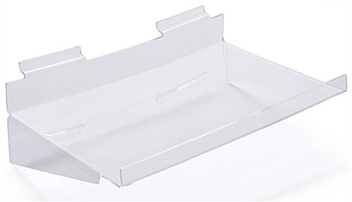 Durable Acrylic Slatwall Shelf