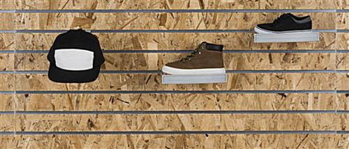Shoe Display for Slatwall Panel