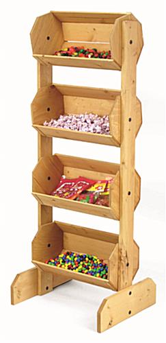 Wood Bulk Display Bin