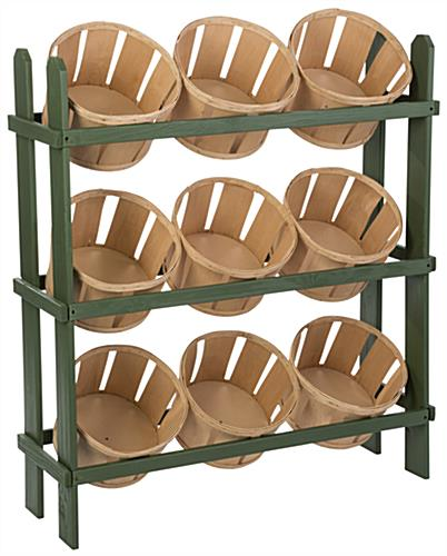 Wood Basket Display