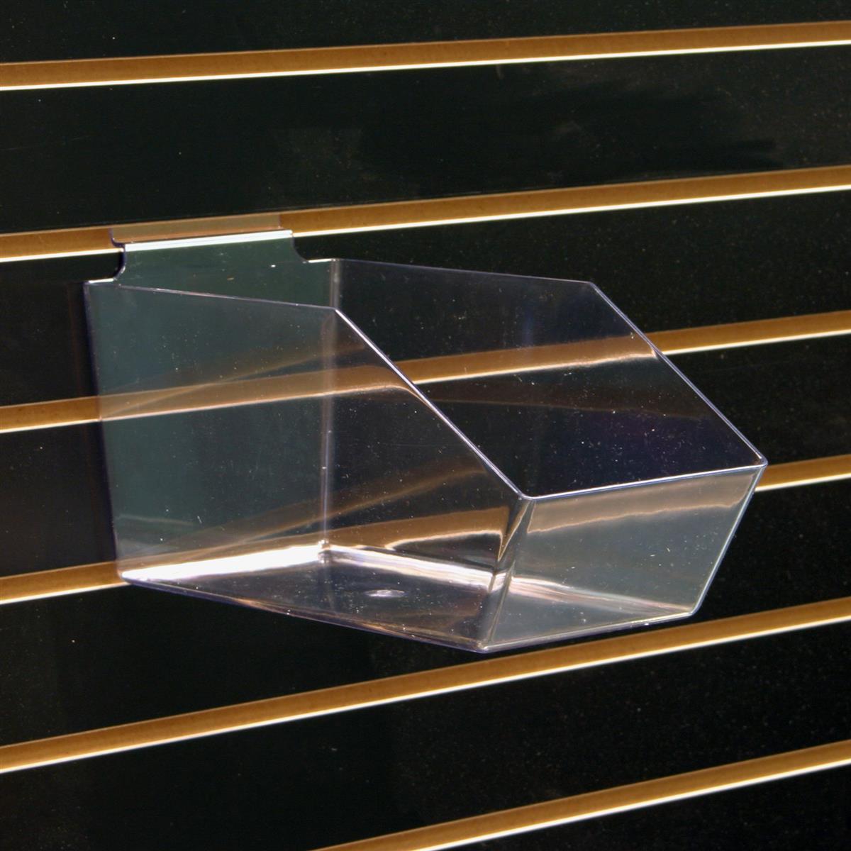 Plastic Slatwall Bulk Bin Open Front Merchandise Container