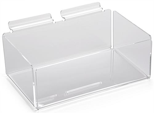 Acrylic Slatwall Bin: Single Compartment