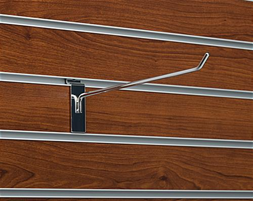 "Retail fixture 10"" chrome peg hook hanger for slat panel"