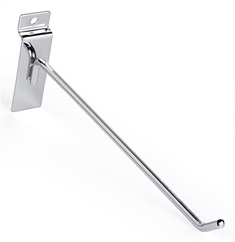 "30° upturned tip 10"" chrome peg hook hanger for slat panel"