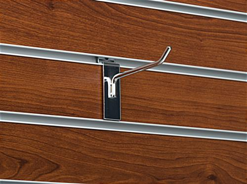 "4"" Chrome Single Hook Pin for Slat Panel with Angled Tip"