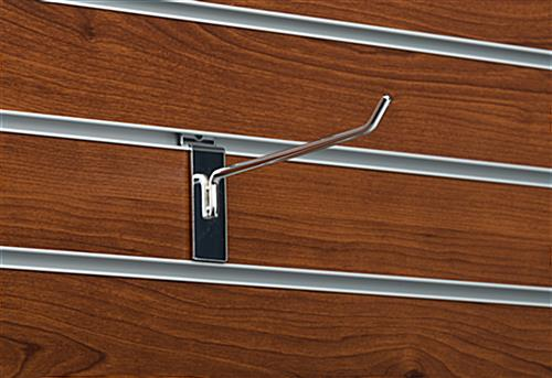 "6"" Chrome Peg Hook for Slat Panel Hanging Merchandise"