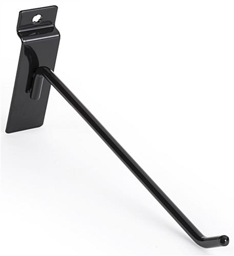 "Slatwall 8"" Black Display Hook with Glossy Finish"