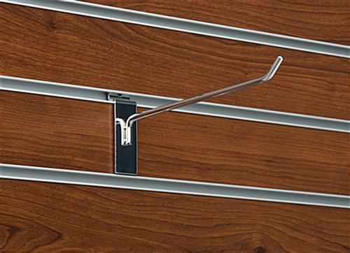 "Metal 8"" Chrome Display Hook for Slat Panel"