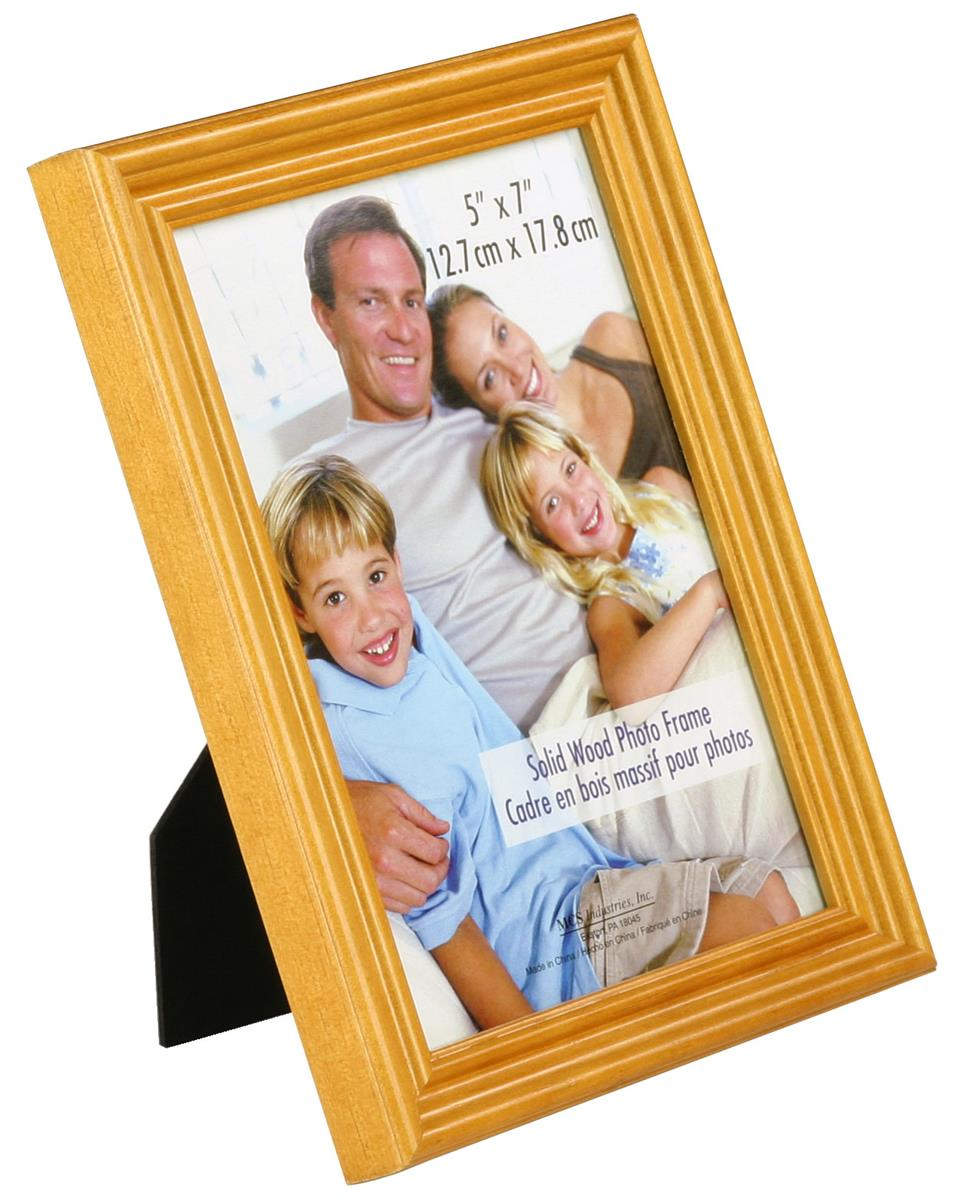 this wood photo frame features solid wood an oak colored finish. Black Bedroom Furniture Sets. Home Design Ideas
