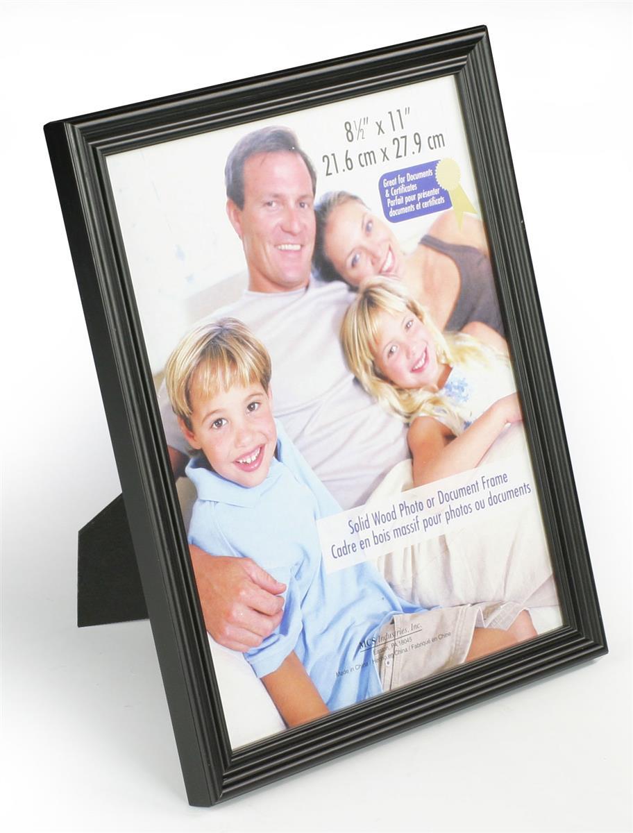 8 5 X 11 Document Frame Solid Wood W Black Matte Finish