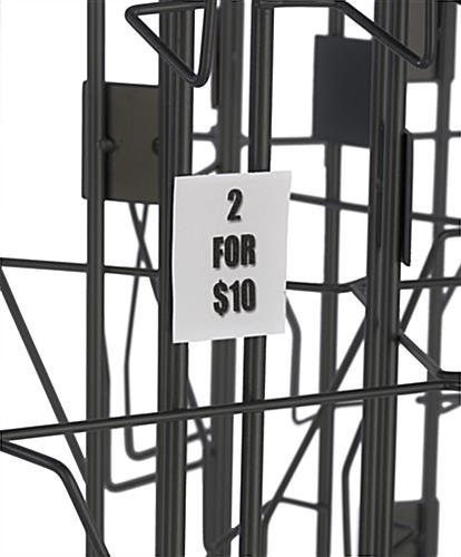 Wire Literature Rack with 4 Spinners, Floor Standing