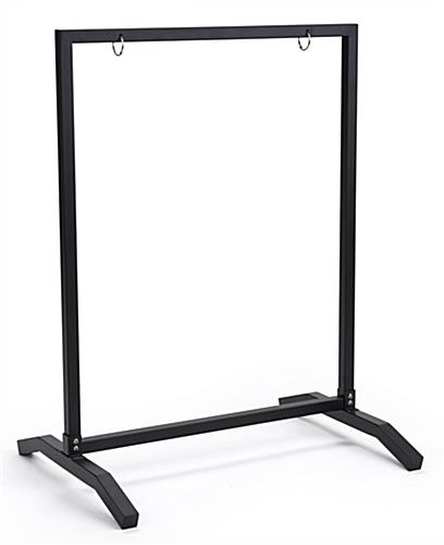 Weighted 22x28 black metal sidewalk sign holder