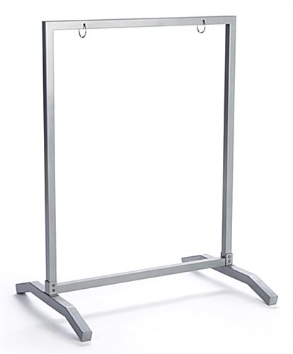 T-Base 22x28 silver metal sidewalk hang frame