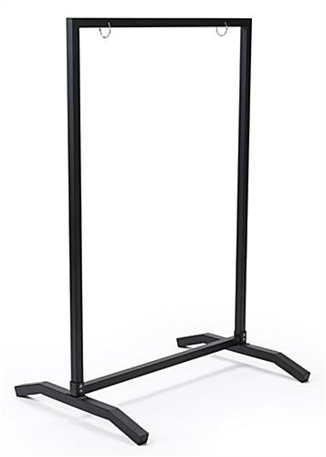 24x36 black swinging sidewalk sign holder with weighted base
