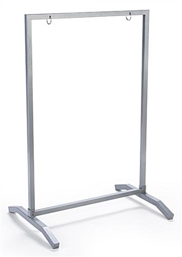 Metal build 24x36 silver swinging sidewalk hanging frame