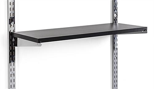 "Black Wood Wall Shelf Fits 10"" Brackets (Sold Separately)"