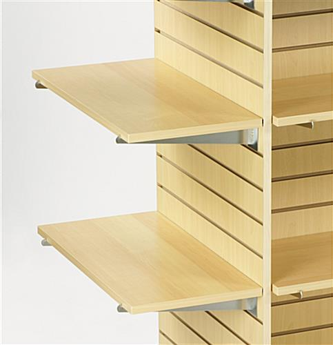 maple slatwall shelf