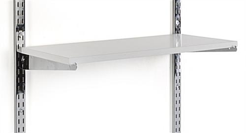 "12"" White Wall Display Shelving Accessory"