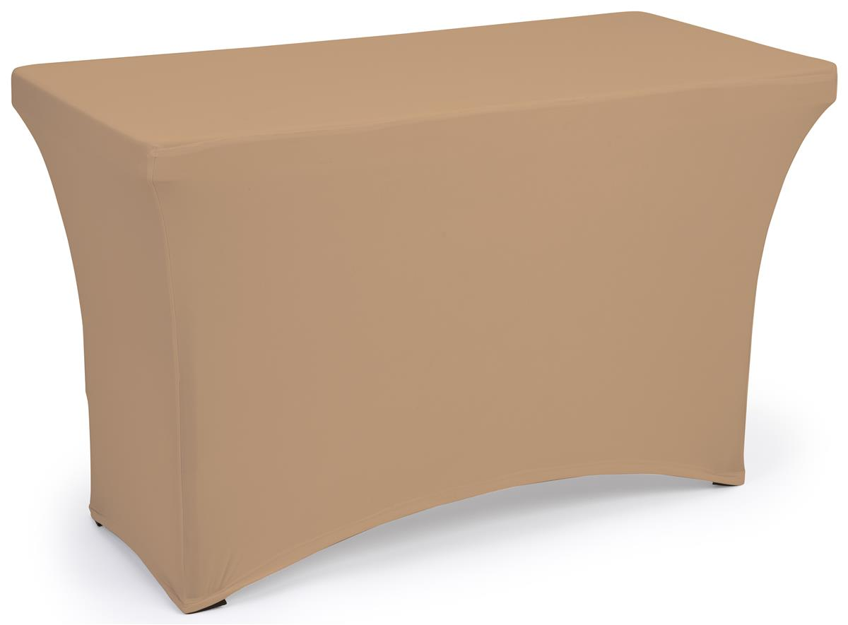 Tan fitted spandex table covers