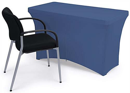 Fitted spandex table covers with back zipper