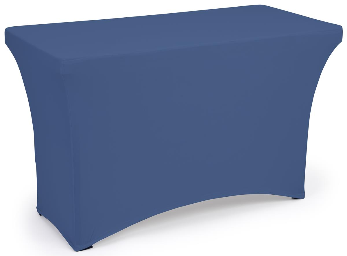 Navy blue fitted spandex table covers