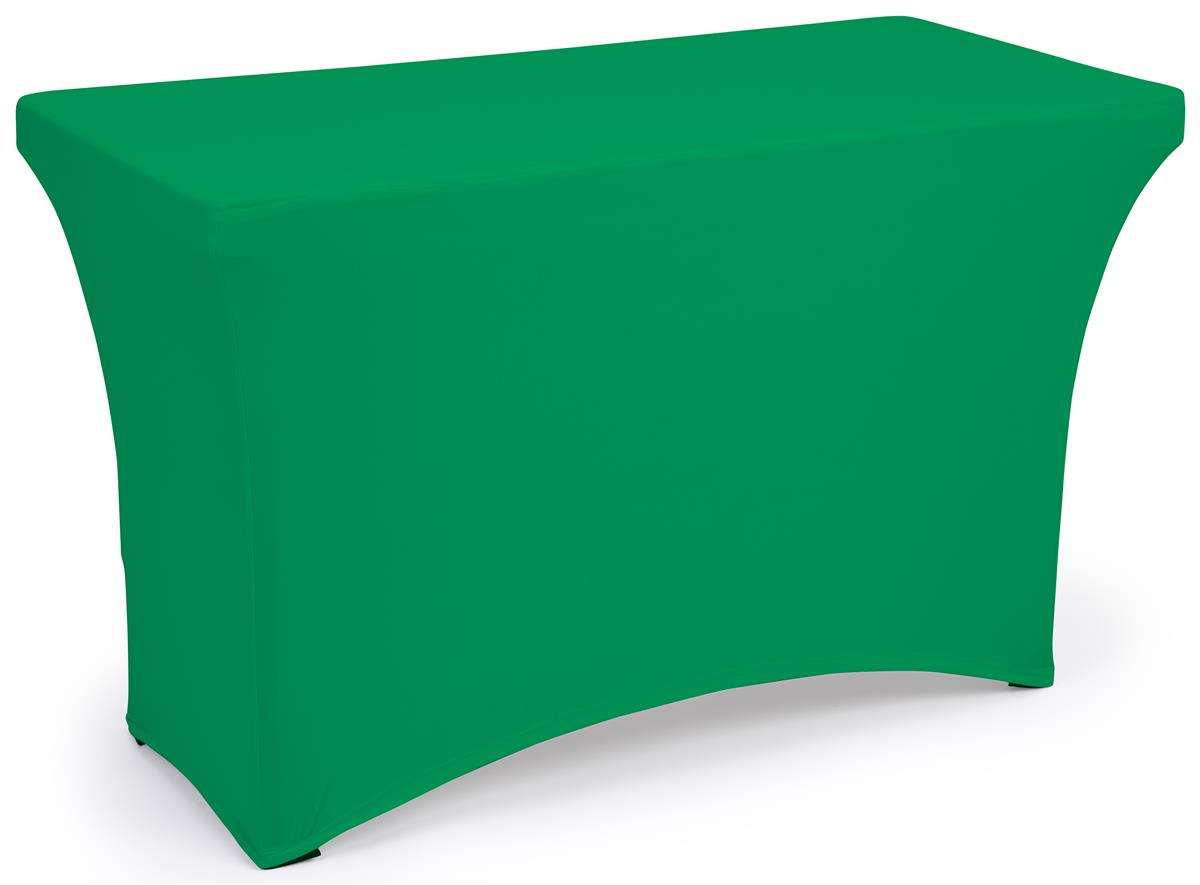 Kelly green fitted spandex table covers