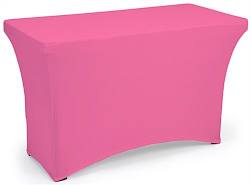 Pink fitted spandex table covers