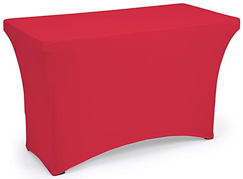 Red fitted spandex table covers