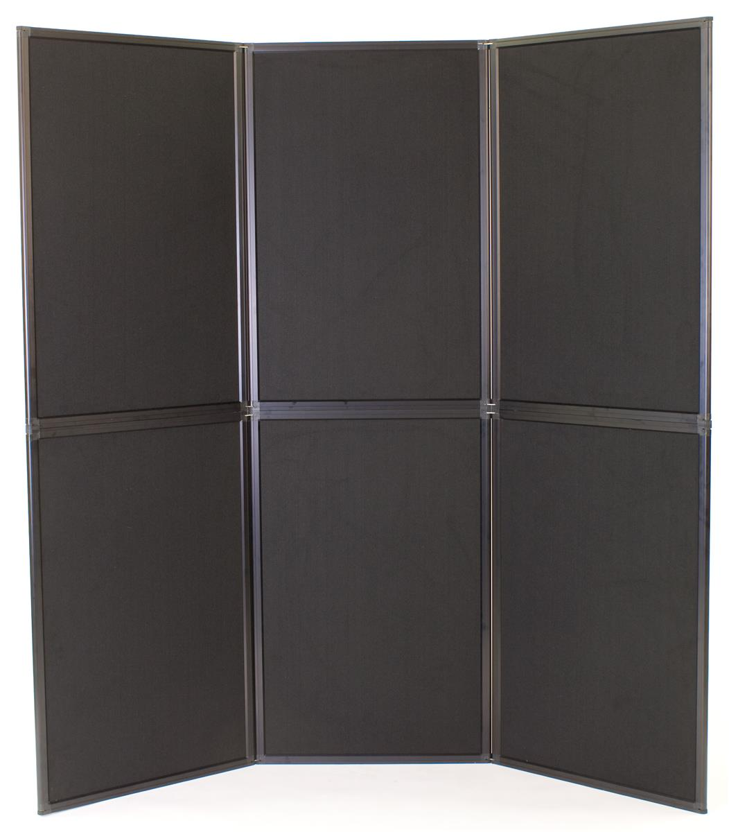 Portable Exhibition Panels : Portable display panels equipped with black gray