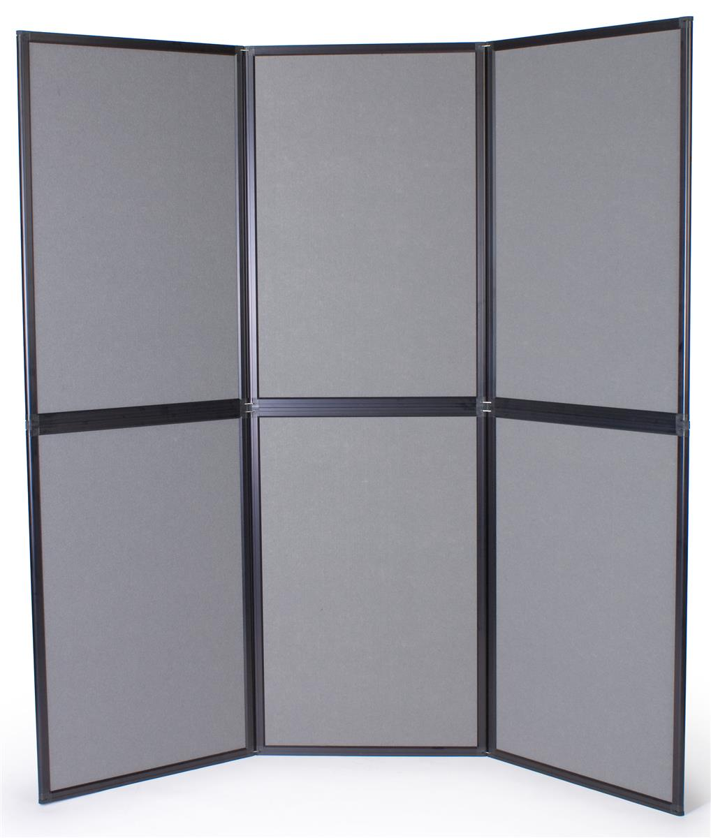 Foldable Display Panel For Trade Show Booths Gray Fabric